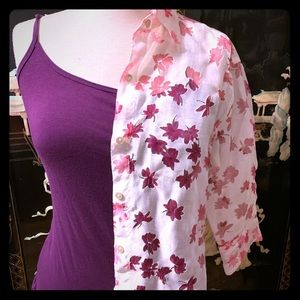 Notations Blouse and Tee beige and pink flower 🌺